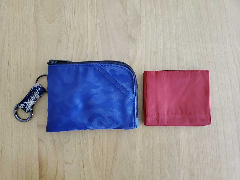 ミニ財布にもすっぽり入る大きさのエコバッグ