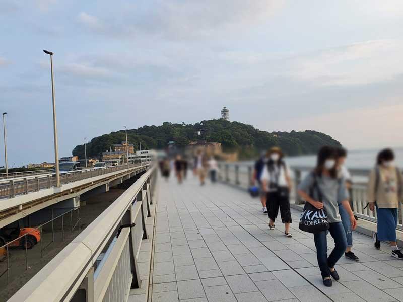 2020年6月下旬の江ノ島の様子