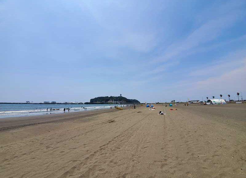 【2020年8月コロナ禍の江ノ島・片瀬東浜海水浴場】静かで混雑なしで家族向き!海の家・シャワーないので注意!