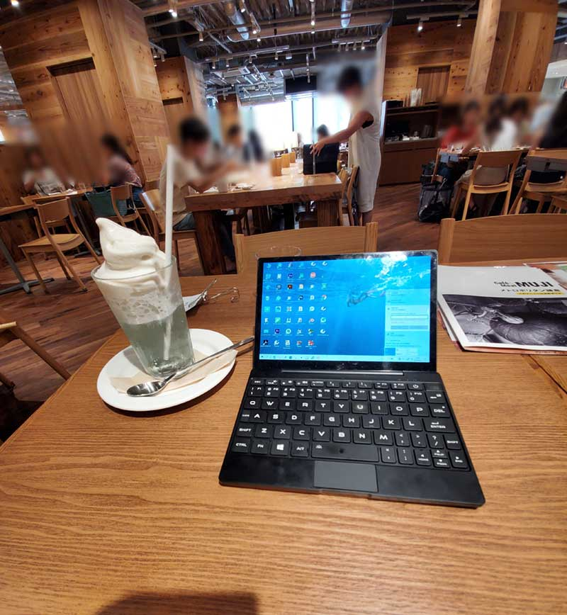 鎌倉無印カフェでノマド