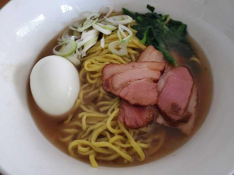 唐辛子麺とアゴダシ醤油