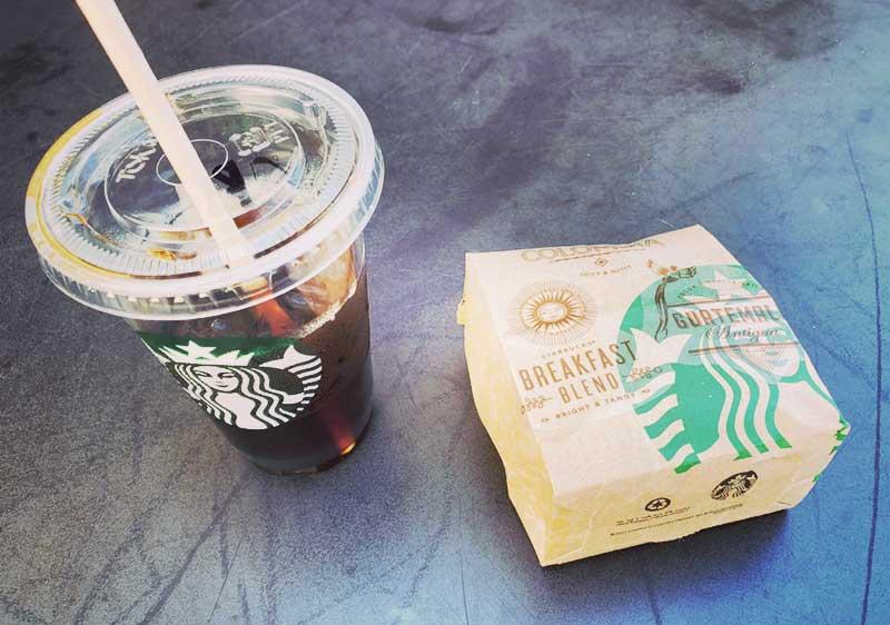 最後のコーヒーを堪能