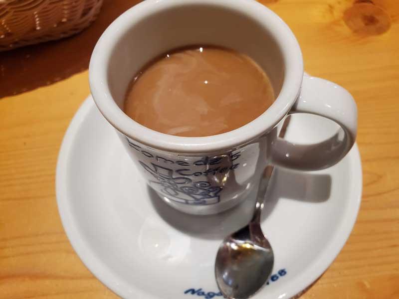 食後のコーヒーが旨い