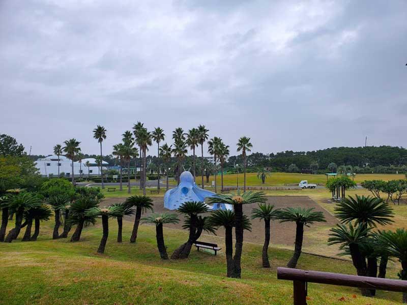 青いタコさんがいる辻堂海浜公園