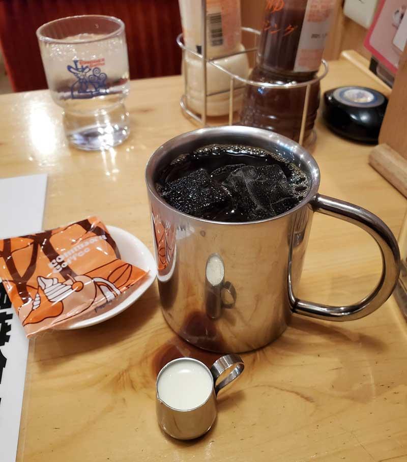 アイスコーヒーにしました