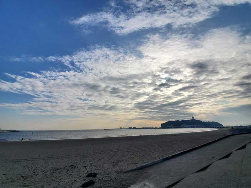目の前は片瀬海岸東浜