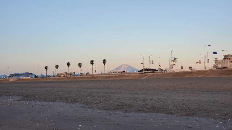 西浜の方には富士山も見える