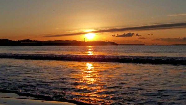 【2021初日の出・江ノ島片瀬東浜】混雑を避けてひと足早い12月下旬に朝日を拝んできた