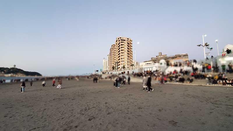 2021年元旦の片瀬東浜