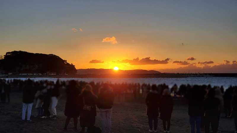 腰越海岸で迎えた2021年初日の出