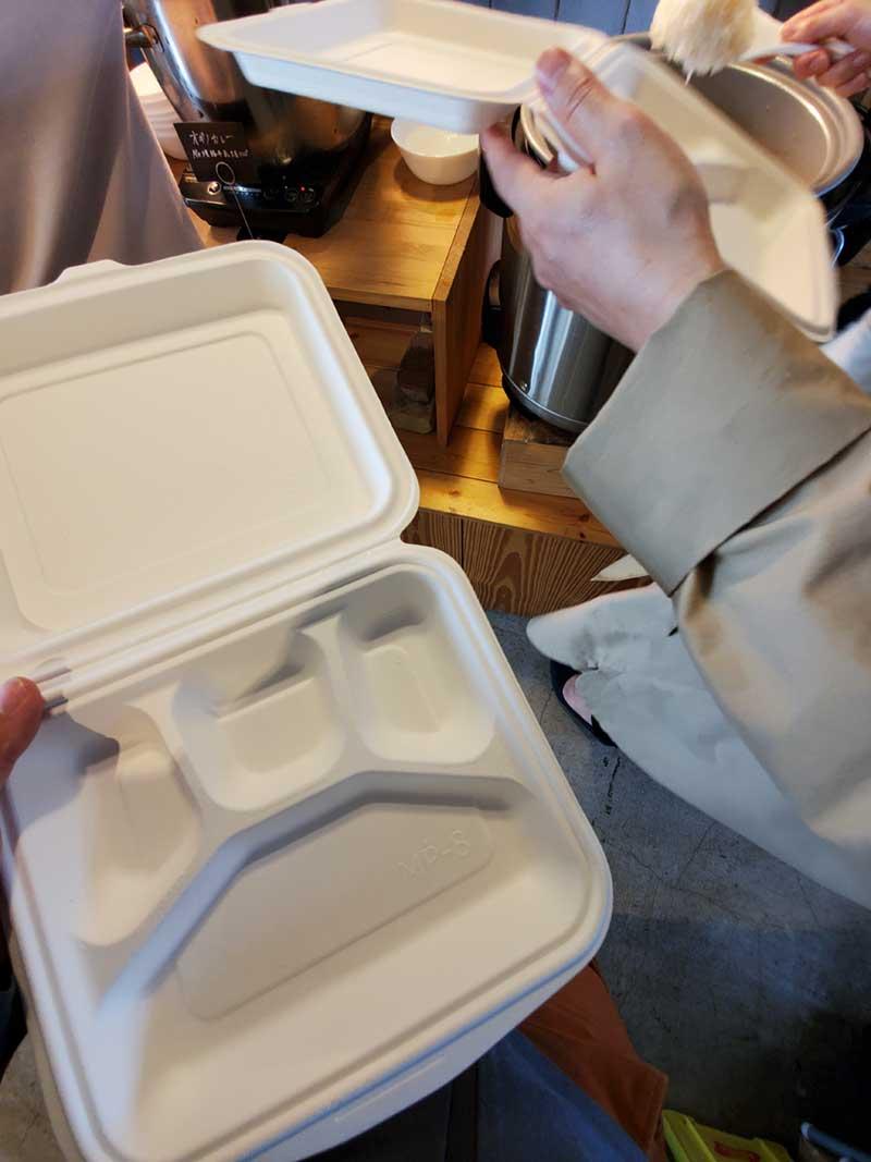 Mサイズ980円のお弁当BOXを持っていざ