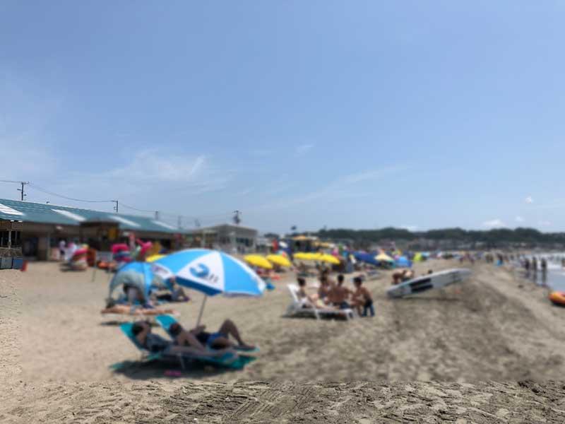 コロナ前の由比ガ浜