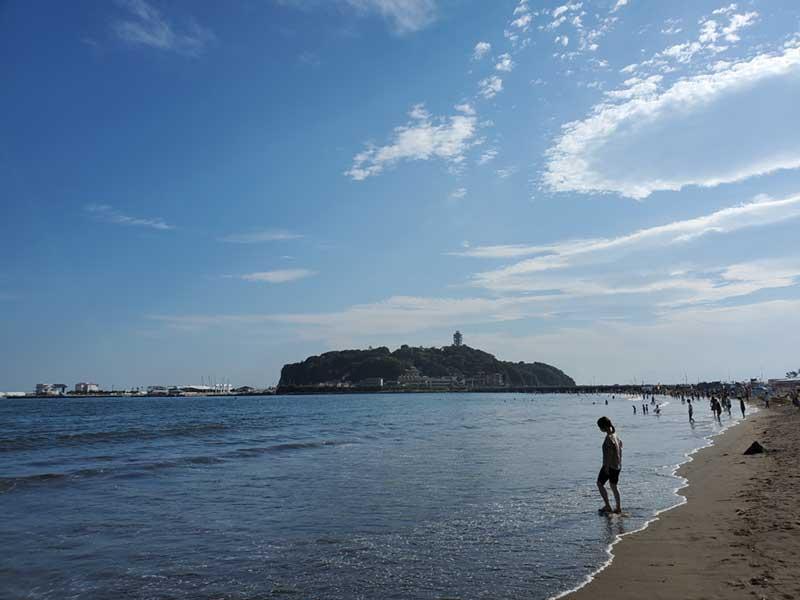 2021年7月の片瀬東浜