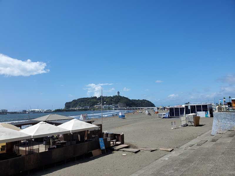 海水浴場終了後の東浜